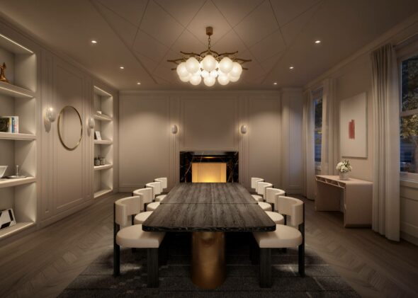 Luxurious residential dining room