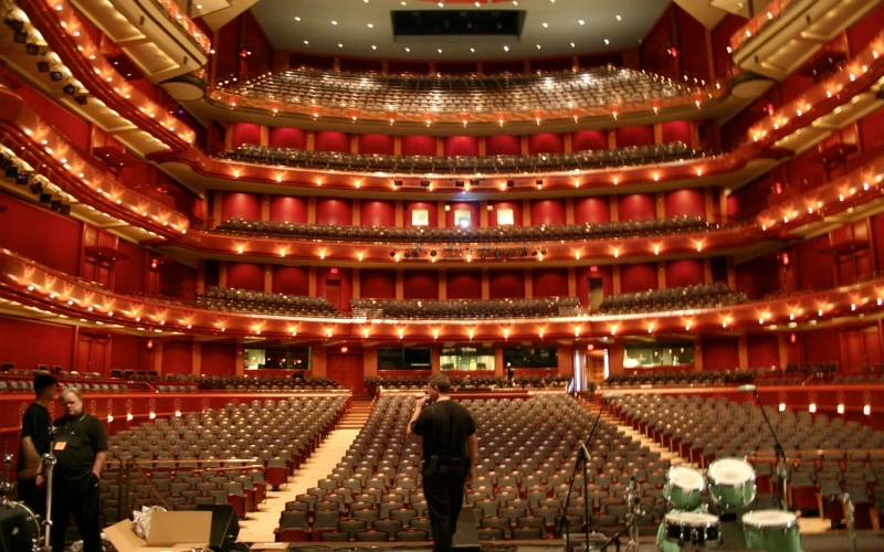 Architectural millwork jersey performing arts